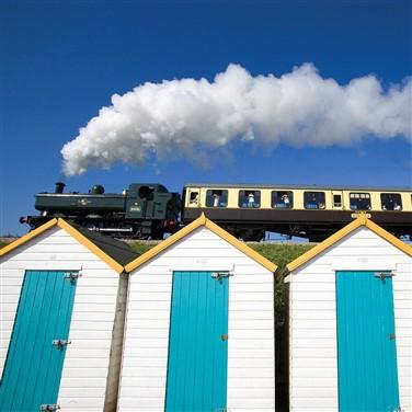 Steam train at the platform